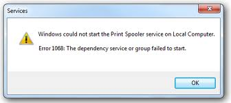 print spooler How To Fix Error 1068 On Windows